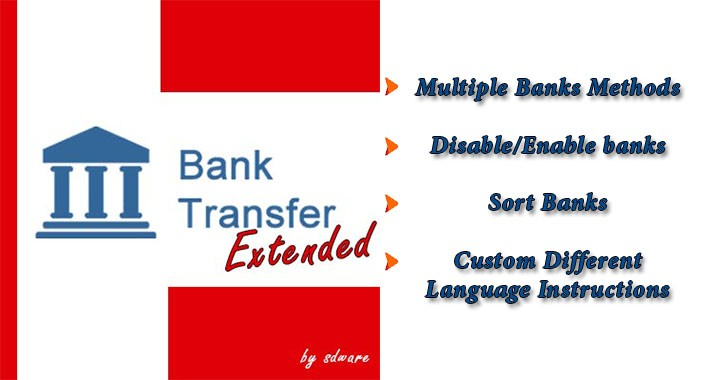Bank Transfer Extended for OpenCart